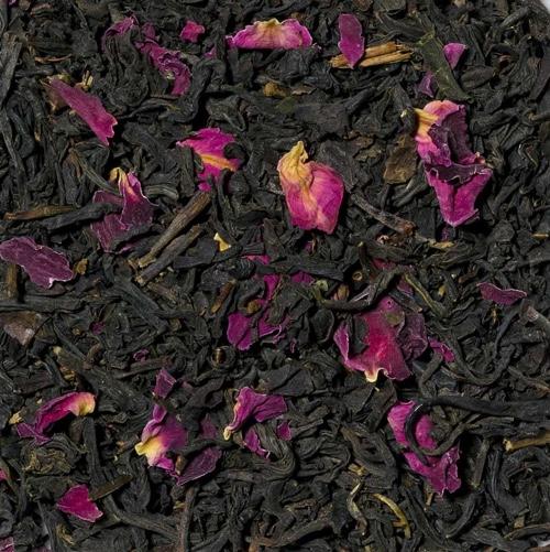 China Rose ist ein Schwarzer Tee mit Rosenblüten