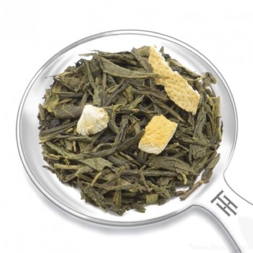 Grüner Tee mit Zitrusfrüchte